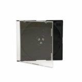 Jewel Box slim con Tray nero singolo CD . Possibilità di inserire una copertina di 12 X 12 cm stampata fronte e retro