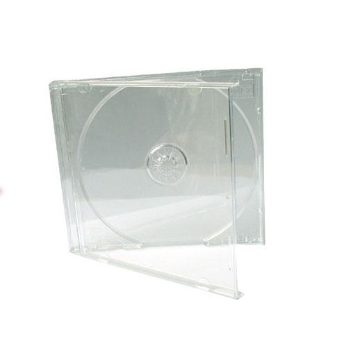 Jewel Box standard Tray trasparente, singolo CD . Possibilità di inserire copertina 12 X 12 cm stampata fronte e retro