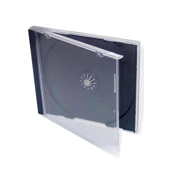 Jewel Box standard Tray nero per singolo CD . Possibilità di inserire copertina 12 X 12 cm e booklet 50 pagine.