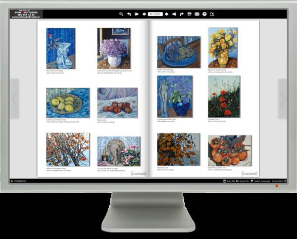 Il catalogo multimediale è un libro elettronico sfogliabile. Può contenere un numero illimitato di pagine e fotografie.