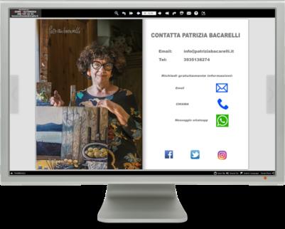 Il catalogo multimediale è un libro elettronico sfogliabile. E' collegabile a social networks, email, telefono, whatsapp