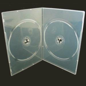 BOX DVD 7 MM DOPPIO TRASPARENTE