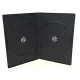Box DVD 7 mm doppio nero , macchinabile di alta qualità. Abbinabile a prodotti editoriale cartacei.