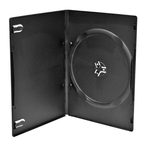 BOX DVD 7 mm singolo trasparente , macchinabile alta qualità . Facilmente abbinabile a un supporto editoriale cartaceo